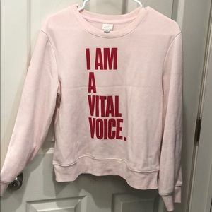 Comfortable sweatshirt with an important message